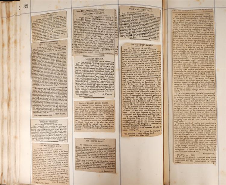 18th century to 1970s Dublin scrapbook