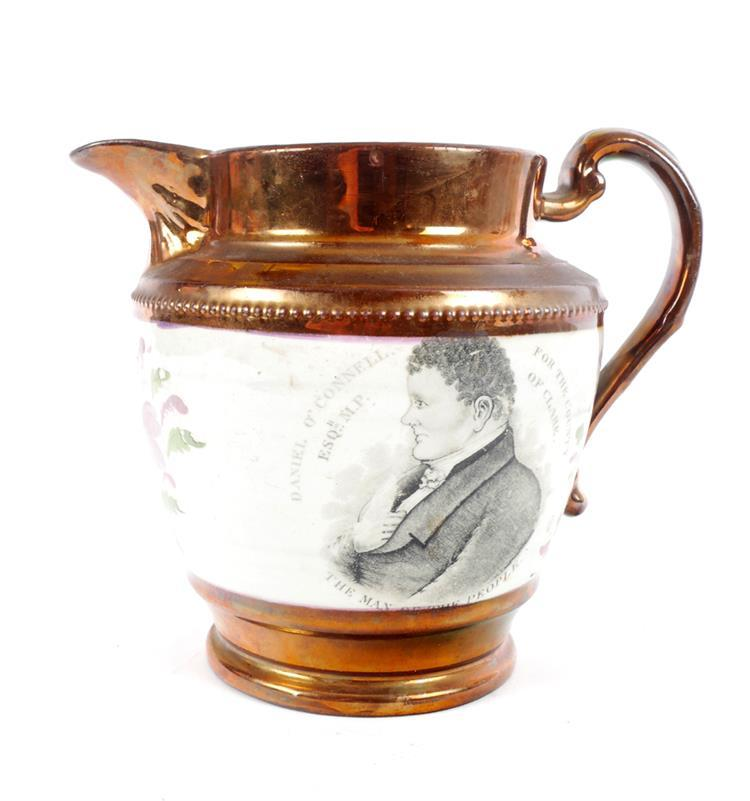 1828 Daniel O'Connell. Clare bye-election, commemorative jug.