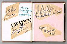 The Beatles autographs, 1963 television appearance.