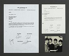 The Beatles: 1963 letter with four signatures created by Mike Aspinal (2)