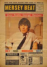 1964 (13 August) The Beatles George Harrison 'Mersey Beat' promotional poster