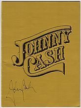 Johnny Cash: Autographed 1978 Las Vegas Concert Programme