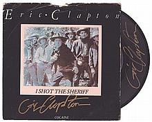 Eric Clapton. I Shot The Sheriff vinyl 45, signed.