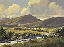 George K. Gillespie RUA (1924-1995) IN THE RAY VALLEY, COUNTY DONEGAL
