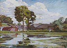 Rosaleen Brigid Ganly HRHA (1909-2002) THE IRONWORKS, CLONSKEAGH, COUNTY DUBLIN, 1945