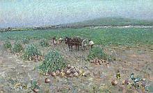 Nathaniel Hill RHA (1860-1930) TURNIP GATHERING, c.1889