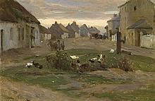 Walter Frederick Osborne RHA ROI (1859-1903) THE VILLAGE STREET, RUSH & LUSK, COUNTY DUBLIN, c.1898