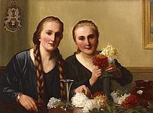 St. George Hare RI ROI (1857-1933) THE PRINCESSES MADELEINE AND OLGA VON DEMBINSKA