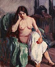 Roderic O'Conor (1860-1940) NUDE IN THE STUDIO