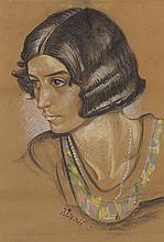 Harry Kernoff RHA (1900-1974) PORTRAIT OF A LADY, 1928