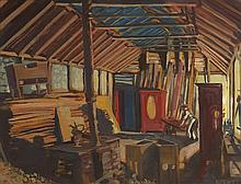 Harry Kernoff RHA (1900-1974) WORKSHOP, NIGHT, 1925