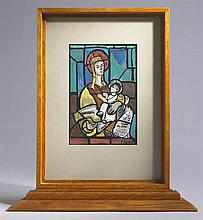 Evie Hone HRHA (1894-1955) OUR LADY AND CHILD