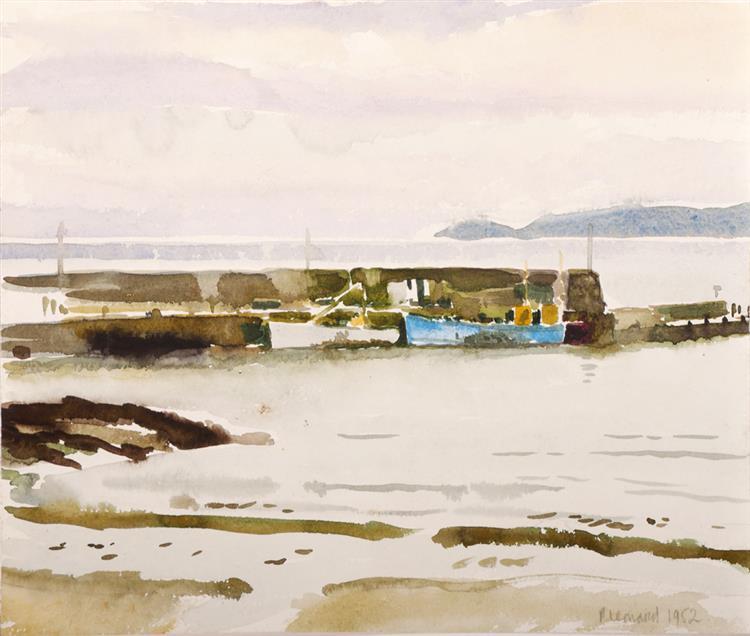 Patrick Leonard HRHA (1918-2005) LOUGHSHINNY HARBOUR, COUNTY DUBLIN, 1952