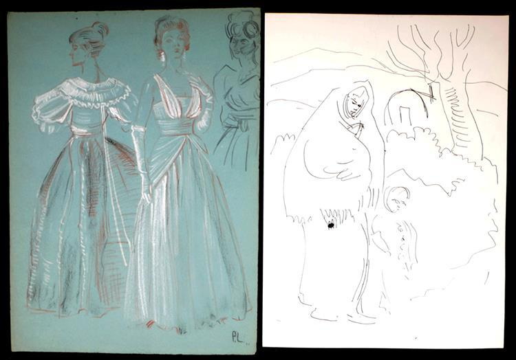 Patrick Leonard HRHA (1918-2005) SKETCHES (SET OF SIX)