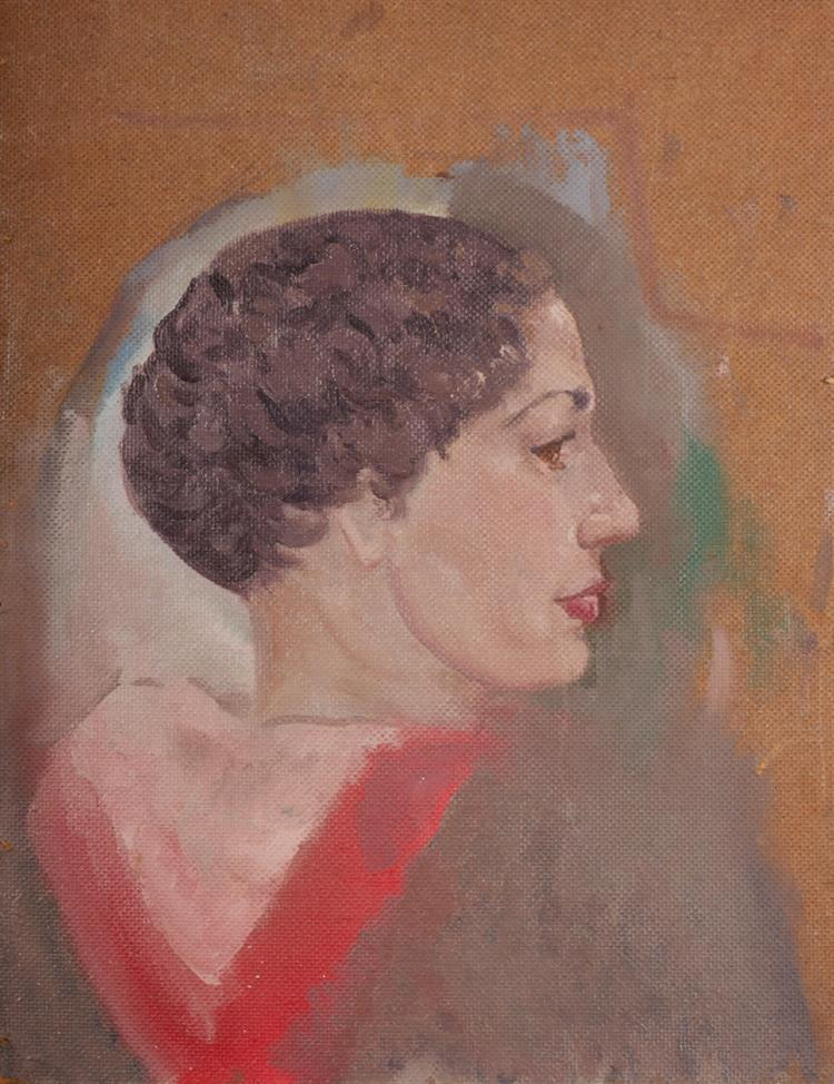 Patrick Leonard HRHA (1918-2005) PORTRAIT OF A WOMAN