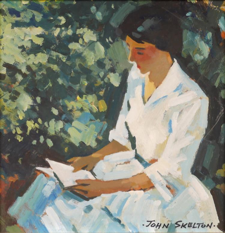 John Skelton (1923-2009) THE WHITE DRESS, 1987