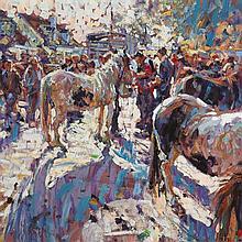 Arthur K. Maderson (b.1942) EVENING STUDY, TALLOW HORSE FAIR