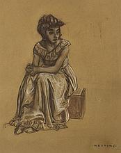 Seán Keating PRHA HRA HRSA (1889-1977) GIRL SEATED, c.1940s