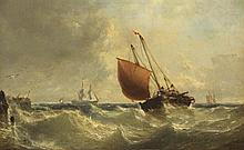 Edwin Hayes RHA RI ROI (1819-1904) A HEAVY SWELL, c.1850 to 1860s