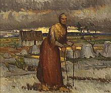 Charles Vincent Lamb RHA RUA (1893-1964) BEAN AN DROCHSHÚIL [THE WOMAN WITH THE EVIL EYE], c.1954