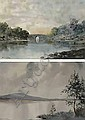 Douglas Alexander (1871-1945)  BRIKEEN BRIDGE, KILLARNEY and A CONNEMARA LAKE (A PAIR) both signed lower left watercolour  25 by 36cm , 10 by 14in. , Douglas Alexander, Click for value