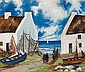 Markey Robinson (1918-1999) FISHING VILLAGE, circa 1950