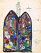 Evie Hone HRHA (1894-1955) DESIGN FOR ANDREW JAMESON WINDOW, ST. MARY'S CHURCH OF IRELAND, HOWTH, COUNTY DUBLIN