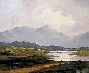 Douglas Alexander, (1871-1945) SUN BURST, WEST OF IRELAND signed lower right oil on canvas 76 by 91cm., 30 by 36in.