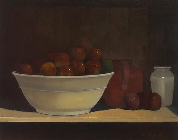 John Christopher Brobbel RBA (b.1950) STILL LIFE WITH APPLES, 2004