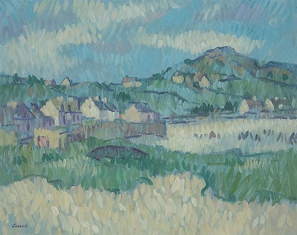 Desmond Carrick RHA (1928-2012) HAIL IN THE WIND, INISHBOFIN ISLAND, COUNTY GALWAY
