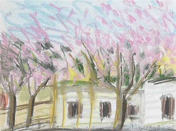 Regine Bartsch (b.1951) CHERRY BLOSSOM, CARAVAN PARK, 2005