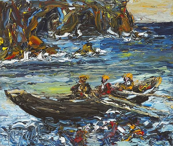 Liam O'Neill (b.1954) OFF BRANDON CREEK, COUNTY KERRY