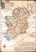 18th century map, Emanuel Bowen, A New and Accurate Map of Ireland