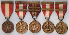 1939-1946 Emergency National Service, five different branches of the defence forces. (5)