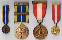 1939-1946 Emergency National Service Local Defence Force medal and miniature. (4)