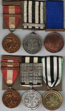 1939-1946 Emergency National Service and St John's Ambulance two family groups of three. (6)