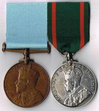 Dublin Metropolitan Police pair of medals for Royal Visits to Ireland.