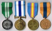 Garda Siochana group of four medals.
