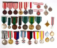 Irish Ambulance decorations and awards collection.