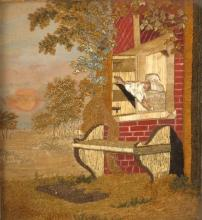 Early 19th century embroidery panel