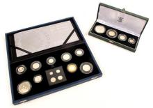 United Kingdom Britannia Silver Proof Collection and The Queen's 80th Birthday Collection. (2)