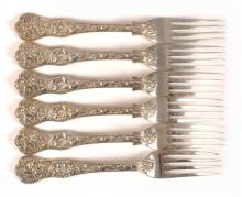 High Victorian silver table forks.