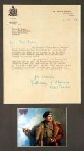9 Feb 1951 Field Marshal Montgomery autograph signature.