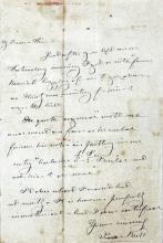 Isaac Butt autograph letter
