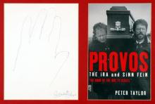 Irish political leaders' autographs. (6)