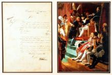 21 July 1814, Report to Napoleon Bonaparte initialled by him.