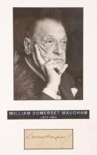 William Somerset Maugham autograph signature