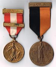 1917 - 21 War of Independence Active Service meda and 1939 - 46 Emergency National Service, Local Defence Force medal (2)