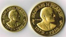 1966 Padraig Pearse Gold commemorative medallions by Vincze