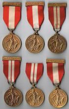 1939-1946 Emergency National Service medals, six different branches of the defence forces. (6)